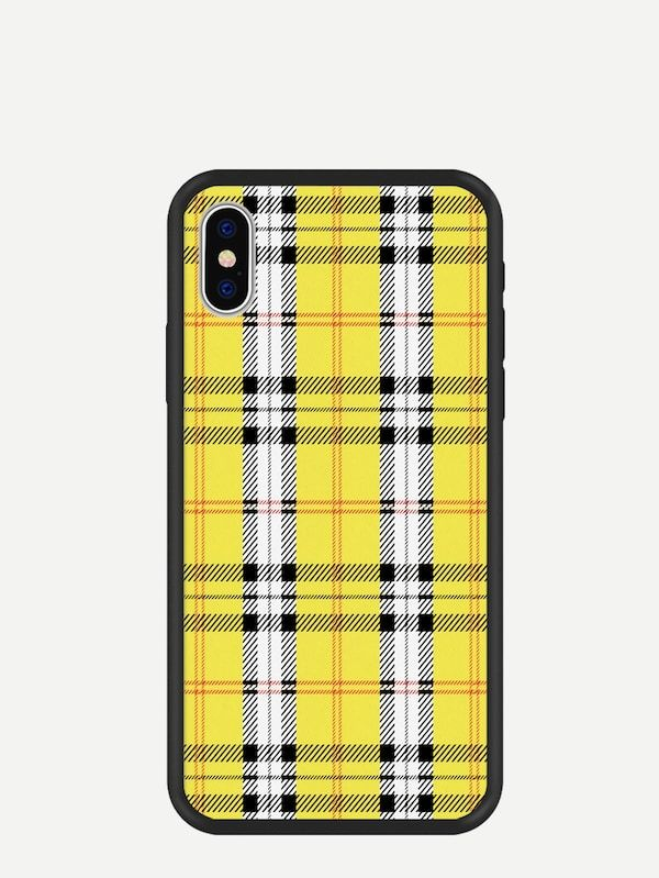 815f9e9485 Plaid Pattern iPhone Case -SheIn(Sheinside) | Make Your Statement in ...