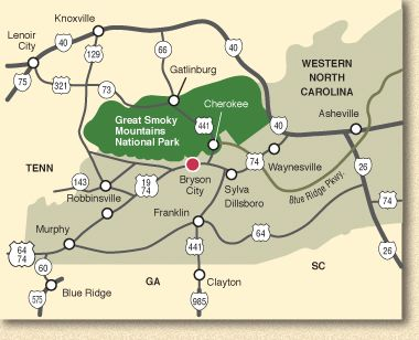 Murphy Nc Map Your Cherokee Nc Cabin Rental Is One Of