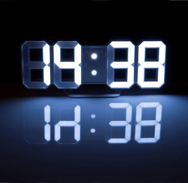 Lunartec Digital Uhr Grosse LED Tisch Wanduhr 7 Segmente