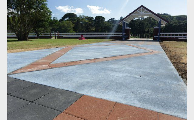 Peter Fell Coloured Concrete | Peter Fell very proud to help out on Marae DIY