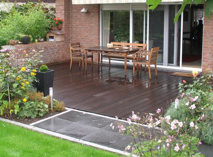 Die besten 25+ Holzterrassen Ideen auf Pinterest Holzbänke - schone balkon und terrasse gestaltung akzente