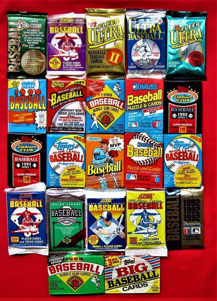 Details About 300 Cards Variety Closeout Baseball Packs
