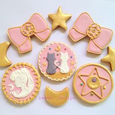 sailormoon cookies @mysweetrecipe , pastel sailor moon http://amzn.to/2qWZ2qa