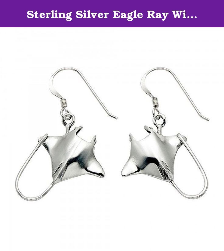 Sterling Silver Eagle Ray Wire Earrings. The stingray's tail features a poisonous barb, which is used only in self-defense. Stingrays are generally docile and will swim close to divers and snorkelers without fear.