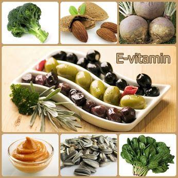 E-vitamint tartalmazó ételek  Az E-vitaminban gazdag ételek segítenek a mentális frissesség megőrzésében.Az E-vitamin - különösen, ha C-vitaminnal együtt fejtheti ki hatását -, segít megelőzni az időskori elbutulás kialakulását. E-vitaminban bővelkedő ételek a mustár, a karórépa, a spenót és a brokkoli. Ha nincs ínyére a zöld szín, nyugodtan fogyasszon napraforgómagot, mandulát vagy olívabogyót, hogy meglegyen a minden napra szükséges E-vitamin adagja.
