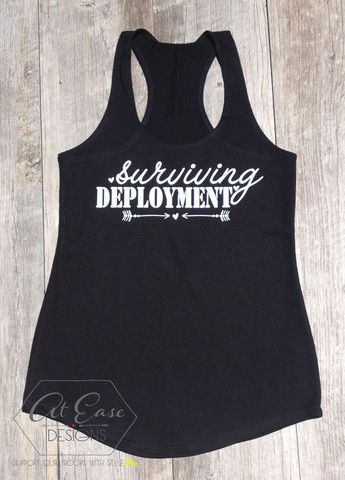 Surviving deployment - $21 Terry Tank - Military – At Ease Designs. Milso Marines Army Air Force Navy Coast Guard Deployment Soldier Marine Airman Sailor Coastie