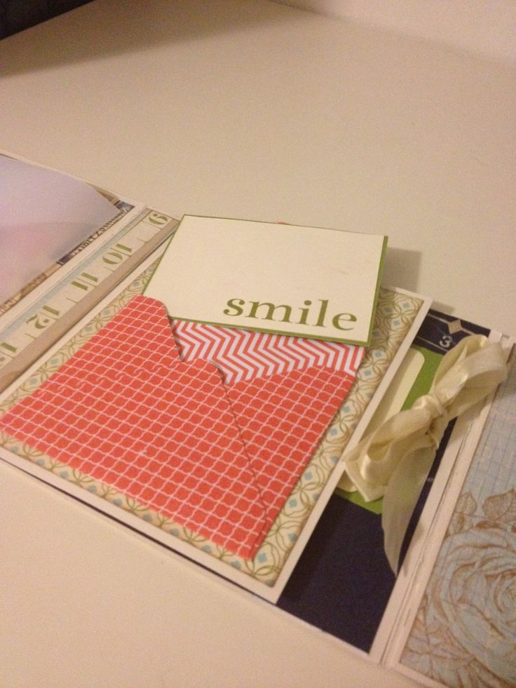 Mini album and envelope from punch board