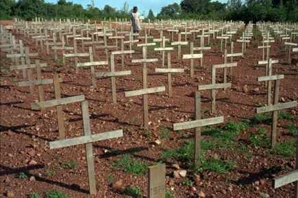 Graves - Rwandan genocide
