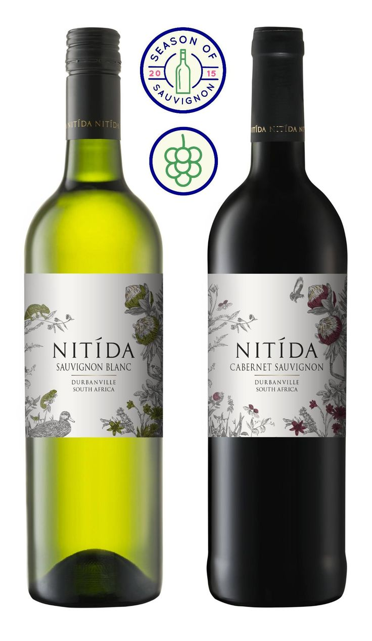 Nitida's new labels each feature a unique hand-drawn design, created using natural inks from the Nitida Protea leaves. Inspired by the ProteaNitidus that grows on the estate, each label features local Renosterveld flora and a few of the many creatures that call the farm home.