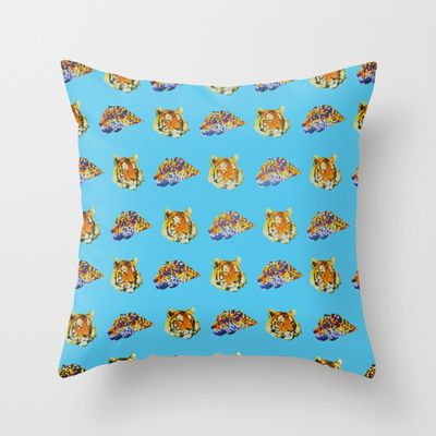 Tigers Throw Pillow by Nahal - $20.00