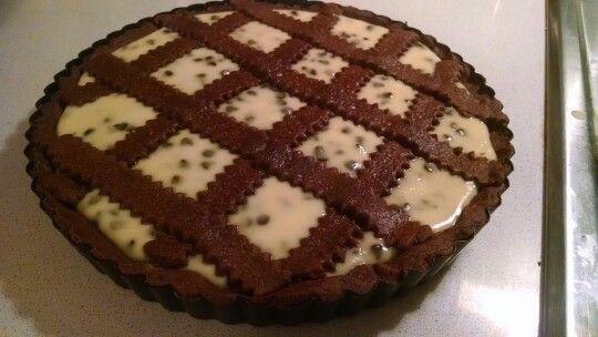 Crostata al cacao con crema di ricotta