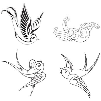 Flying Bird Feather Tattoo Design Image Gallery - Lapse ...