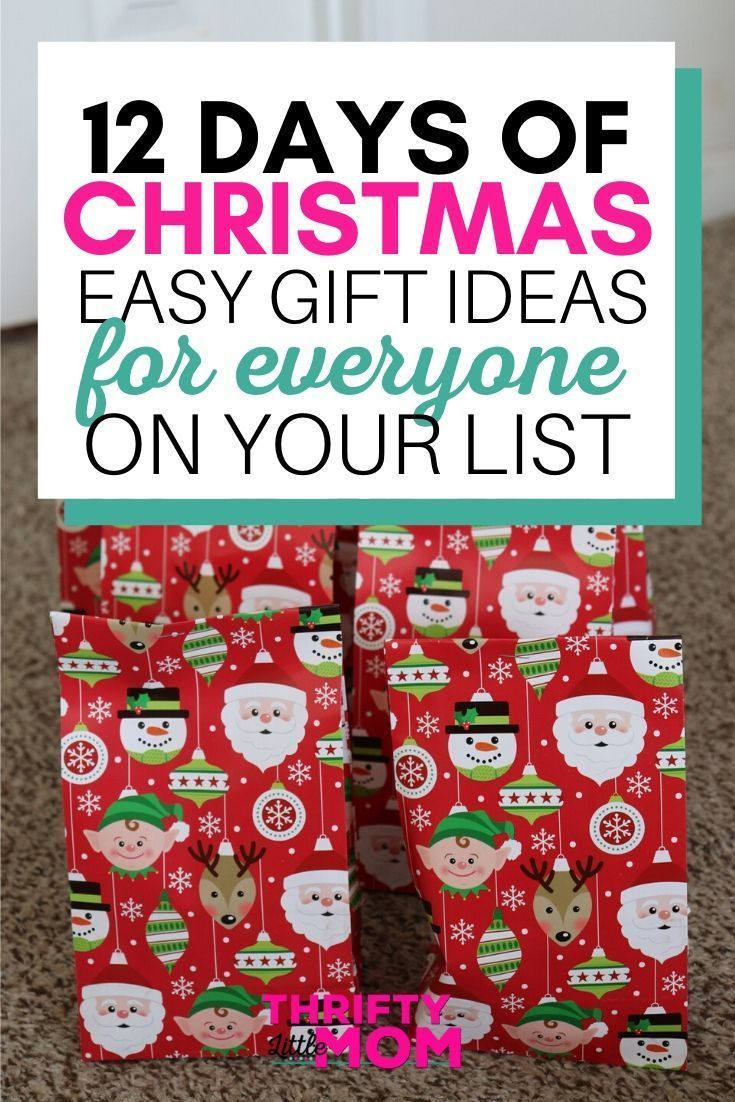 12 Days Of Christmas Gifts 12 Days Of Christmas Christmas Party Gift Christmas On A Budget