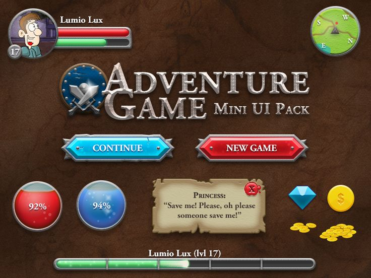 Rpg-game-ui-dribble
