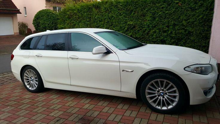 weißer BMW 525d Touring - Automatik Head-Up Komfortzugang Sportsitze TOP ZUSTAND   Check more at https://0nlineshop.de/weisser-bmw-525d-touring-automatik-head-up-komfortzugang-sportsitze-top-zustand/