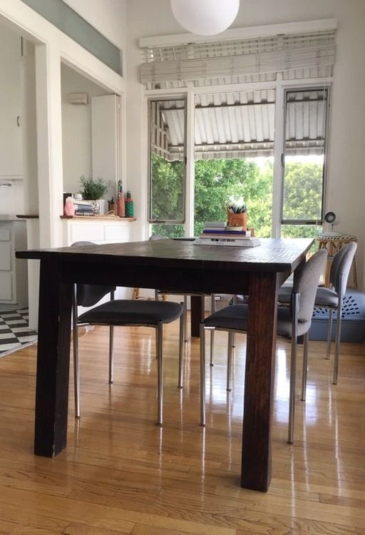 Best 25 Modern Rustic Dining Table Ideas On Pinterest  Brick Alluring Kitchen And Dining Room Furniture Decorating Inspiration