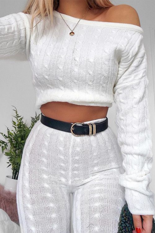 Cream Cable Knit Loungewear Set - Anha in 2019  0f6572908