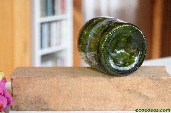 Paredes con botellas de vidrio
