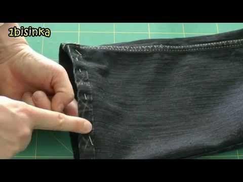 Jak skrócić spodnie/ dzinsy zachowując oryginalne zakończenie [Styl i Projekt] - YouTube