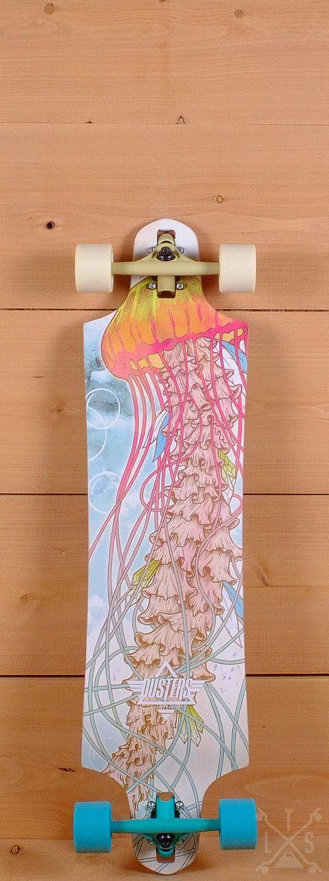 "Dusters Prebuilt 38"" Medusa Drop Through Longboard"