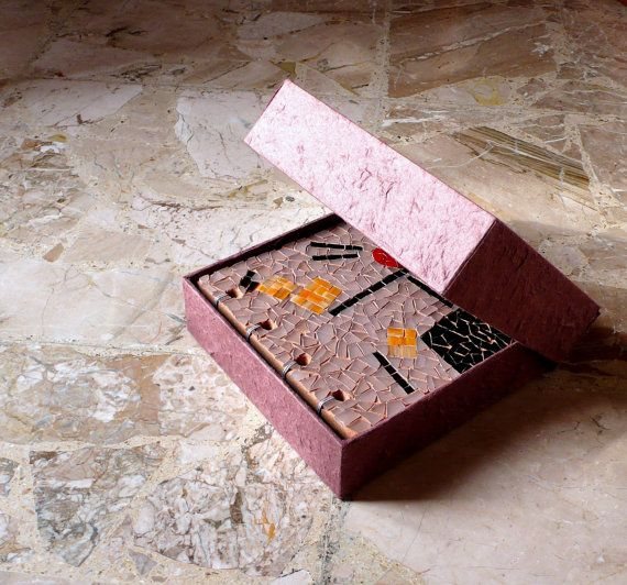mosaic book / Wedding gift guest book. by LaTenagliaImpazzita, €299.00