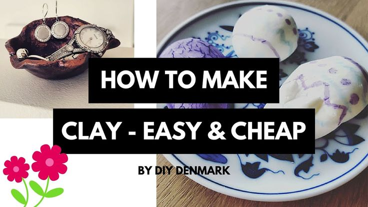 Learn how to make your own clay. It's easy and cheap :)