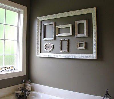 M s de 17 ideas fant sticas sobre marcos de cuadros vac os - Composicion marcos pared ...