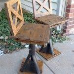 Rustic Industrial kid Chairs
