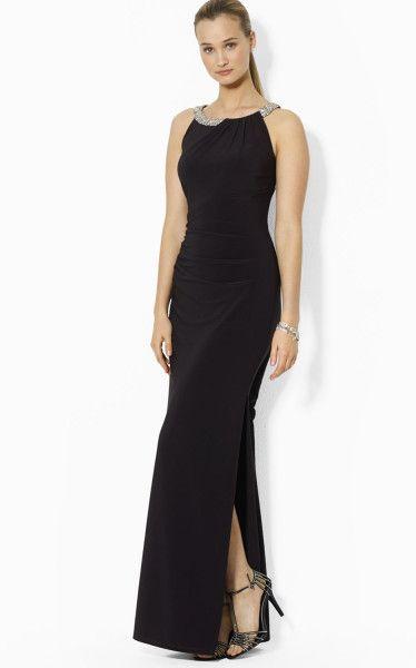 Love this: Lauren Gown Sleeveless Rhinestone Column @Lyst