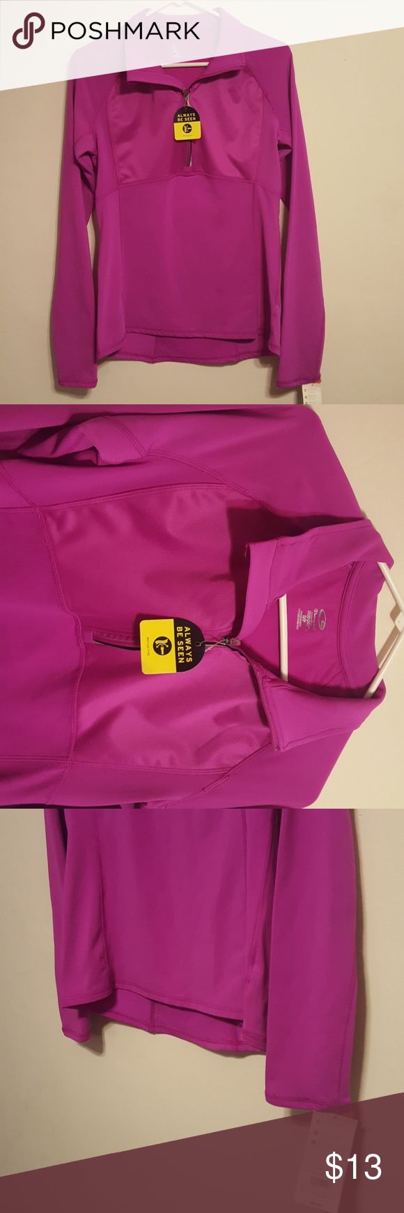 Champion Duo Dry Pink Women's Exercise Coat S/P Up for sale is a women's Champion 1/2 zip exercise Duo Dry coat / long sleeve shirt.  Size is S/P or Small / Petite.  Raspberry shake / pink in color.  Great for cold weather workouts.  New with tags / NWT.  Just been sitting in a closet and needs a new home.  Comes from a smoke free home. Champion Jackets & Coats