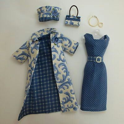 Too cute. Such intricate detailing on these tiny clothing. Classy dress and jacket