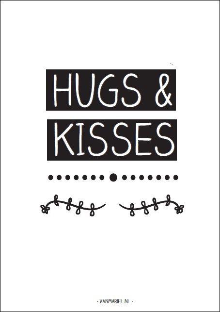 Hugs & Kisses - Buy it at www.vanmariel.nl - Card € 1,25 Poster € 3,50 Big Poster € 7,50