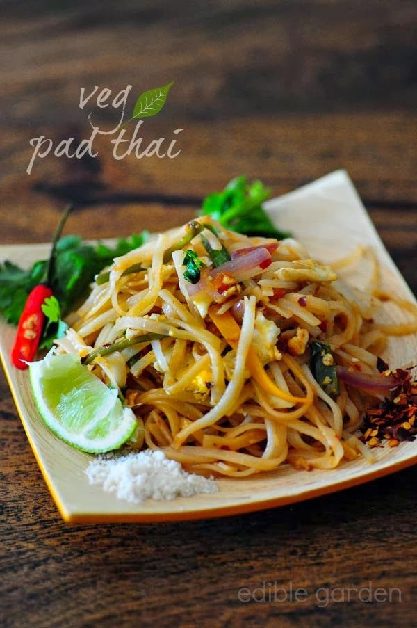 Pad Thai - Vegetarian Pad Thai Noodles Recipe, Step by Step (omit the egg for a VEGAN version)