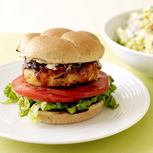 Blue Cheese Chicken Burgers (weight watchers)