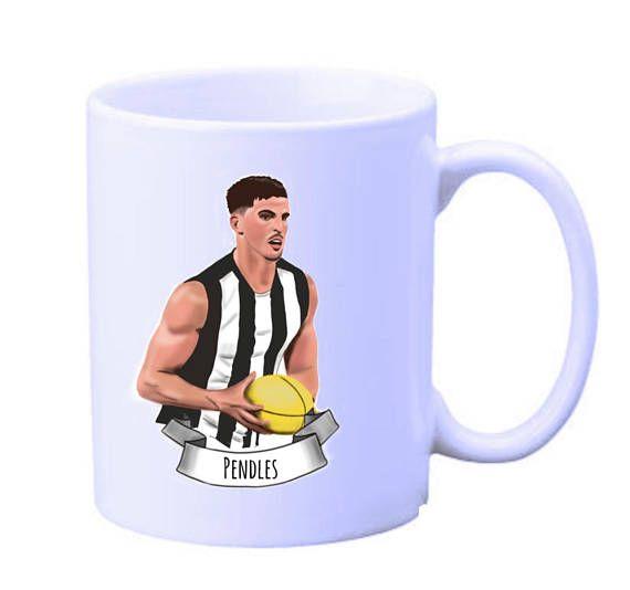 Scott Pendlebury Collingwood Football Club illustrated mug