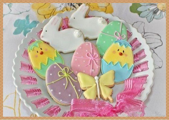 Пасха: пасхальное печенье с глазурью   Дом нашей мечты
