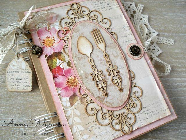 Handmade by Anna Wysocka: Różowy przepiśnik Vintage
