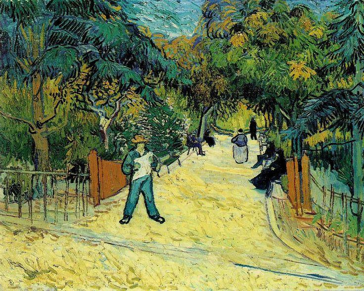 Vincent van Gogh — Entrance to the Public Garden in Arles, 1888,...