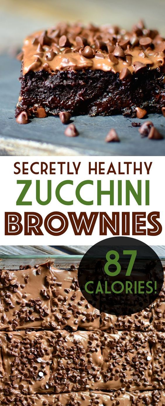 Have you ever wished you could have a huge, rich gooey brownie for under 100 calories? Well now you can with these zucchini brownies!