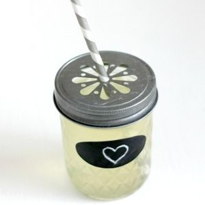 We Love Citrus - Silver Mason Jar Lid