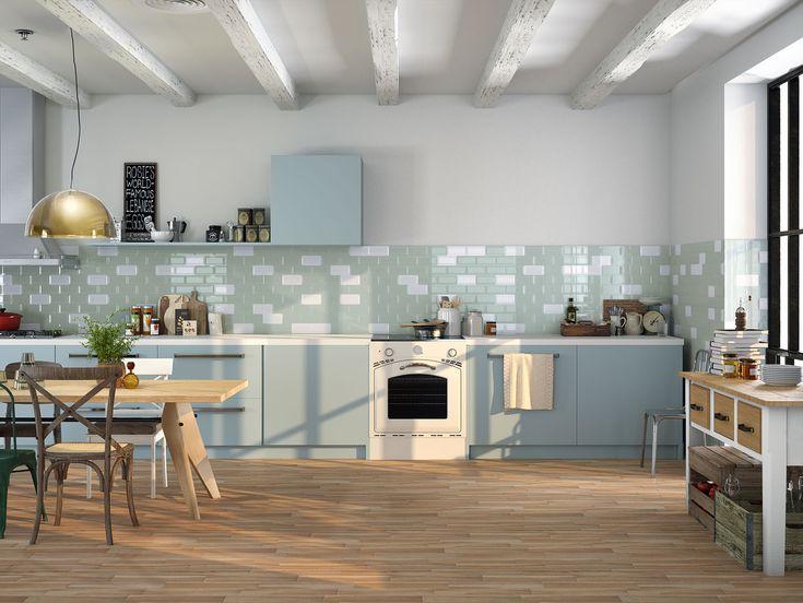 Cocina  con encanto diseñada con varias de nuestras series de azulejos cerámicos de la colección #ChicColors. ¿Qué os parece?