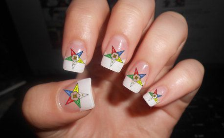 32 ORDER of EASTERN STAR Nail Art Decals Color by NorthofSalem, $5.99