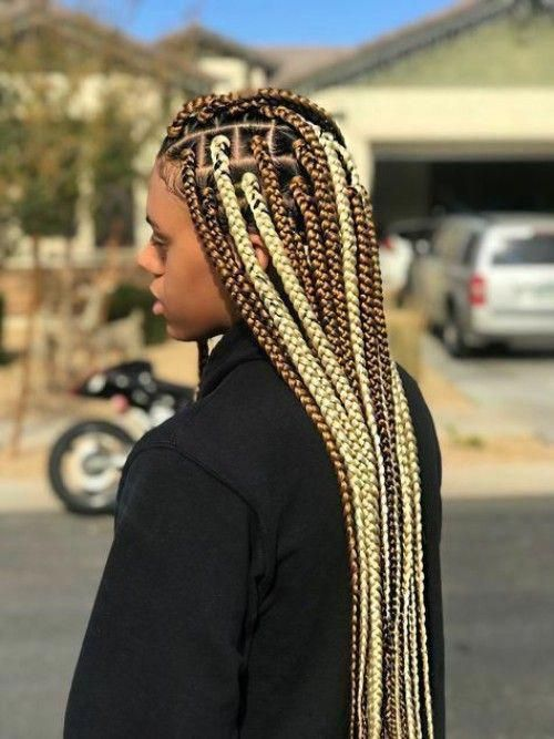 Box Braids Hairstyles For Black Girls #hairbraids | Brown