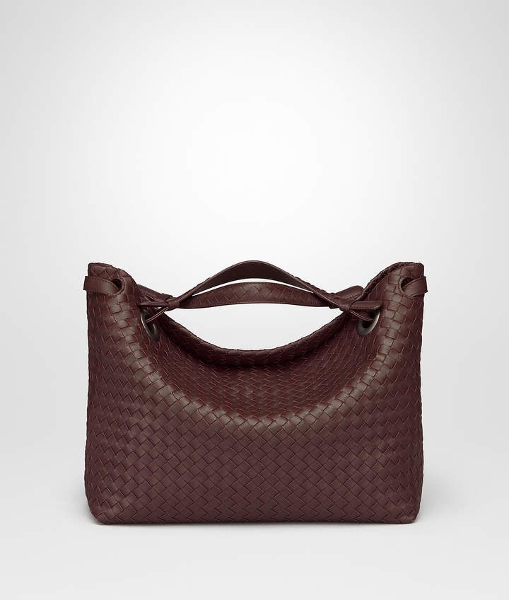 c4c7ac9755 Bottega Veneta DARK BAROLO INTRECCIATO NAPPA MEDIUM GARDA BAG ...