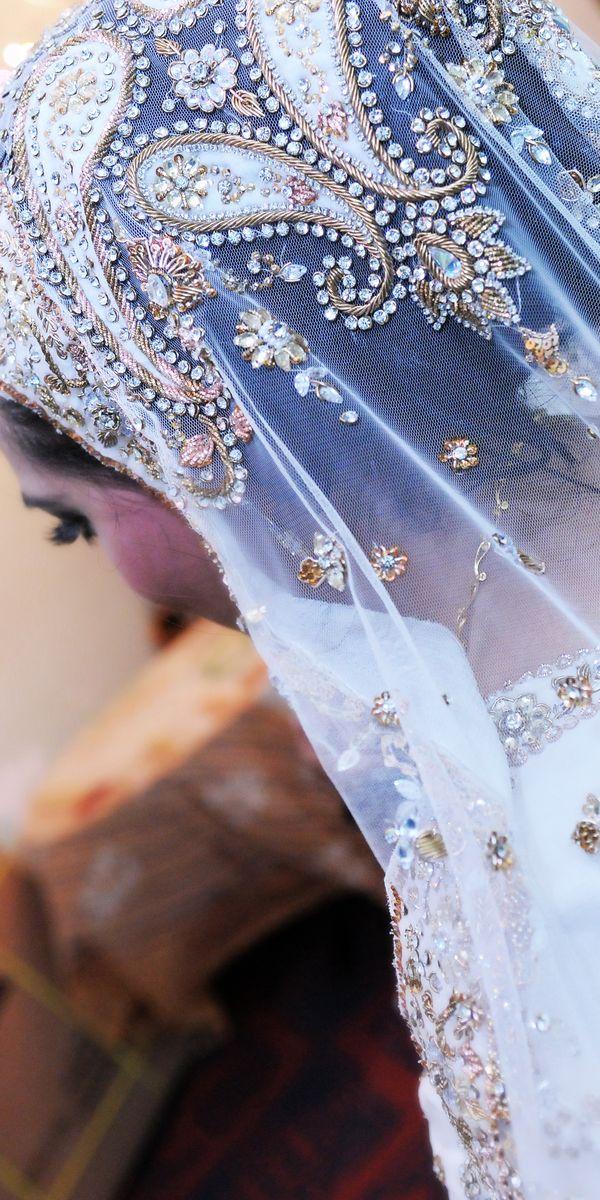 """Gold & white paisley veil - """"Portrait of a Muslim Bride"""" by AH Portrait Photography"""