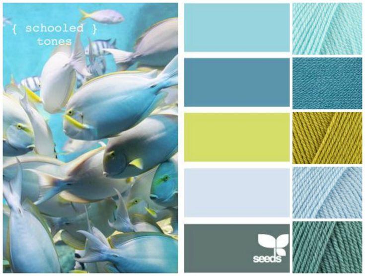 SCM Stylecraft DK: sherbet/storm blue/sage/lime/cloud blue