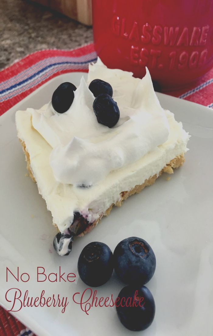 Our Good Life: No Bake Summer Blueberry Cheesecake #SRC