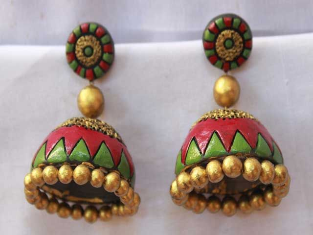 Terracotta designer jewellery- Christopher Lee(India)