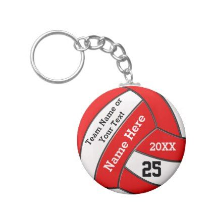 Cheap Volleyball Keychains in Your Colors and Text - cheap gifts diy cyo unique gift ideas