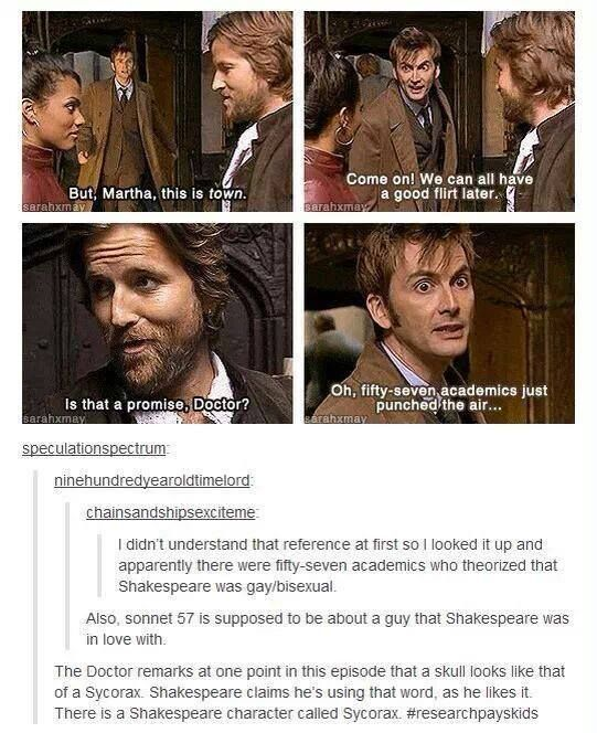 The Doctor and Shakespeare - love this episode!